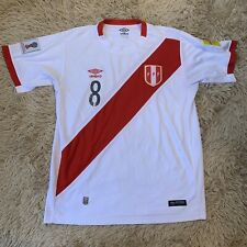 Official Umbro Authentic Peru #8 Soccer Jersey 2017 Russia 2018 Shirt Large Home