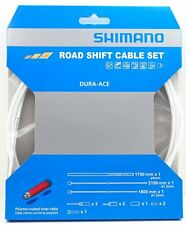 Shimano Dura Ace 9000 Road Polymer Shift Cable Set w/ FREE End Cap x3, White
