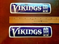 2 Vintage Minnesota Vikings TCF Bumper Stickers Unused 8 X 2 Inches