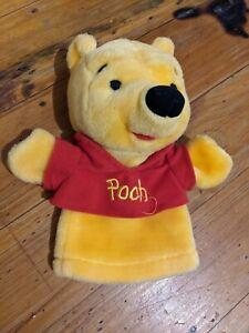 Walt Disney Winnie The Pooh Bear Plush Toy Hand Puppet 22cm