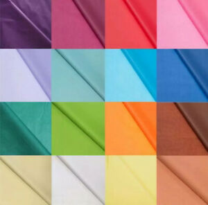 Coloured Tissue Paper Acid Free High Quality Bio Recyclable - 22 Colours