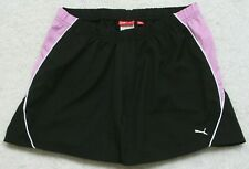 "Puma Black & Pink Running Shorts XL 30"" x 4.5"" Polyester Drawstring Extra Large"
