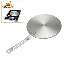 """7.5"""" Stainless Steel Induction Cooktop Converter Disk Plate Cookware Silver"""