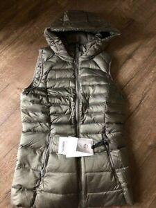 Lululemon brave the cold vest size 6 NWT Grey sage