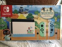 Nintendo Switch Animal Crossing Special Edition - NEW - FREE PRIORITY SHIP