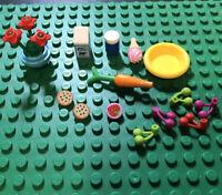 Lego Friends Minifigure Kitchen Accessories Food  Bundle Job Lot (c) 22 Pieces