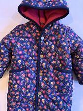 Ralph Lauren Floral Quilted Baby Snowsuit Bunting Sz 3m