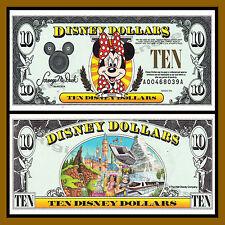 "Disney 10 Dollars, 1996 Series ""AA"" Disneyland Minnie Mouse Uncirculated"
