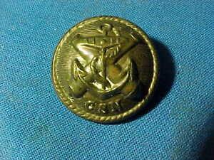 "Orig CIVIL WAR Brass CONFEDERATE NAVAL OFFICER 1"" UNIFORM BUTTON"