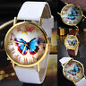 Fashion Womens Ladies Watches Butterfly Leather Strap Analog Quartz Wrist Watch