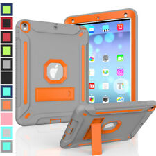 Hybrid Heavy Duty Rubber PC Stand Shockproof Case For iPad 2 3 4 5 6th Gen 9.7""