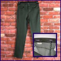 NYDJ Not Your Daughters Jeans Pants Size 4 Sheri Slim Ponte Mid Rise Green EUC