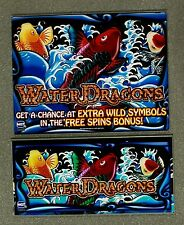 IGT Video Slot Machine WATER DRAGONS Belly & Top Glass Set