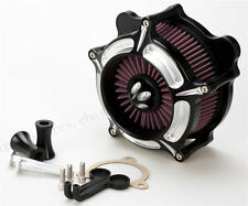 For Harley dyna softail Turbine Air Cleaner Intake Filter Street Glide FLH 08-16