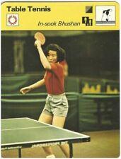 1979 In-Sook Bhushan South Korea Table Tennis Sportscaster Card #103-12