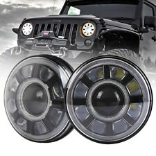 7'' LED Headlights Hi-Lo Beam DRL Turn Signal Lamps For Jeep Wrangler JK 07-17