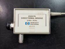 Vb Offers Accepted Hewlett Packard Hp 85027a Directional Bridge 10mhz 18ghz