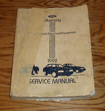 Original 1992 Ford Mustang Shop Service Manual 92