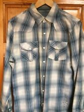 Vintage - Blue Check Shirt - Medium - 100% Cotton