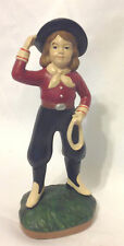 "Midwest Of Cannon Falls Cowgirl Firguine Ropes And Boots 7-1/4"" Tall Ec"