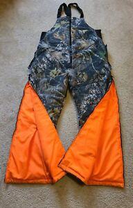 Northwest Territory Reversible Hunting Overalls Mens Sz M Camo Blaze Orange