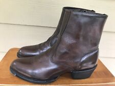 """Laredo Performair Black Cherry 7"""" Size Sip Leather Ankle Boot Men's Size 10 D"""
