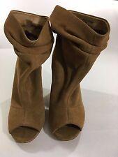 Chinese Laundry Break Up Women Peep Toe Ankle Boot Tan 7.5-Original Retail $109