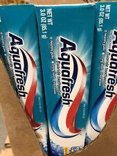 6 Pack - AquaFresh Fresh Mint Fluoride Toothpaste Extra Fresh +whitening 3.0ozea