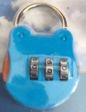 Metal 3 Dial Cerradura de Combinación Equipaje Maleta De Viaje Azul Accesorio Gimnasio Candado