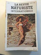 LA REVUE NATURISTE N ° 7 / 1956 / PIN UP CHARME EROTISME / NO PLAY BOY NO LUI