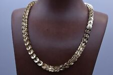 Technibond Interlocked Byzantine Chain Necklace 14K Yellow Gold Over Silver 925