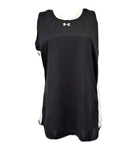 Under Armour Heatgear Women's Clutch Sleeveless tee shirt size L Black Semi Fit