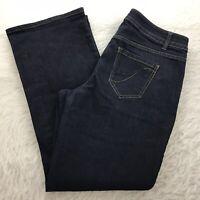 Lane Bryant Bootcut Jeans Women's Size 16 Stretch Genius Fit Dark Wash