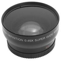 HD 0,45 x 52mm Super Kamera Weitwinkel-Objektiv mit Makro-Objektiv und Trag