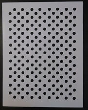 """Circles Polka Dots Circle Dot 8.5"""" x 11"""" Custom Stencil FAST FREE SHIPPING"""