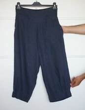 THE MASAI CLOTHING COMPANY 100% Linen Navy Trousers Size M