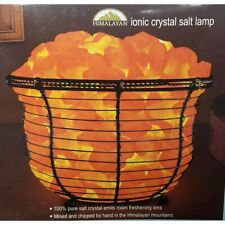 HIMALAYAN IONIC CRYSTAL SALT BASKET LAMP MINED IN THE HIMALAYAN MOUNTAINS NEW!
