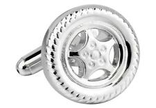 Wheel & Tire Mags Car Rims Cufflinks Wedding Groom Dad Father Gift Box Free Ship