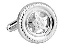 Wheel & Tire Mags Car Rims Cufflinks Wedding Groom Dad Father Gift Box Free Ship