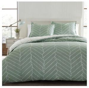 City Scene Ceres Cotton Comforter Set Full/Queen Mint