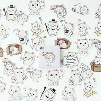 45Pcs DIY Box-packed Cute Cat Stickers Stationery Scrapbooking Diary Decor
