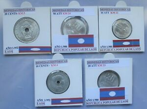 SERIE LAOS COINS CURRENT MONEDAS SIN CIRCULAR LAOS REPUBLIC