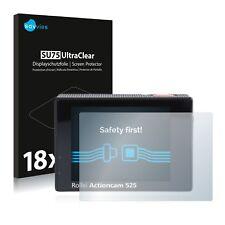 18x Display Schutz Folie für Rollei Actioncam 525 Klar Transparent