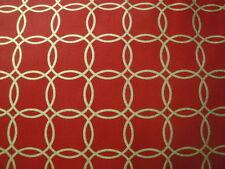 Metro Living-Scarlet-BTY-Robert Kaufman-Gold Interlocking Rings-Scarlet B/G-OOP