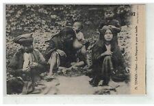 TONKIN INDOCHINE VIETNAM SAIGON #18598 HANOI LES MANGEURS DE POUX EN FAMILLE