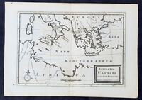 1764 Herman Moll Antique Map East Mediterranean, Italy, Greece, Turkey - Ulysses