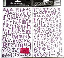 DOVECRAFT GLITTER ALPHABET STICKERS - UPPER & LOWER CASE + NUMBERS & SYMBOLS