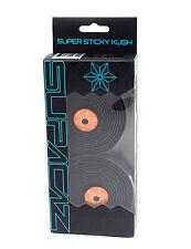 Supacaz Super Sticky Kush Road Bike Handlebar Tape, Black/Orange