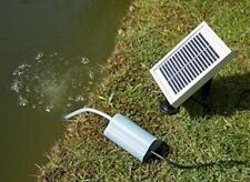 Solar powered Garden Pond Water Pump Oxygenator Oxygen Aerator 1 Stone Design