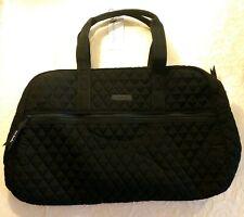 Vera Bradley Medium Traveler Microfiber Bag Tote Weekender Black